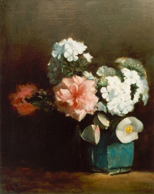 Floris Arntzenius | Flowers in a ginger jar, Öl auf Leinwand, 43,2 x 34,6 cm, signed l.l.