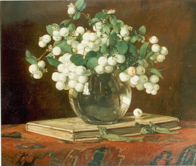 Jan Bogaerts | Snow-berries in a vase, Öl auf Leinwand, 35,0 x 40,5 cm, signed u.r. und dated 1934