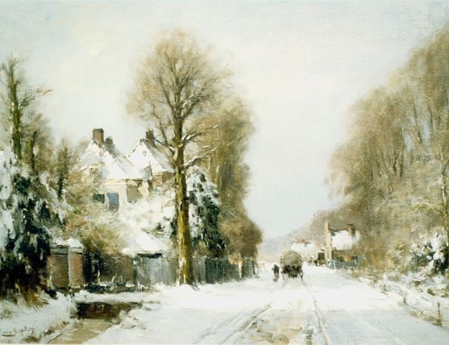 Louis Apol | View of the Rijksstraatweg in winter, The Hague, Öl auf Leinwand, 55,0 x 76,5 cm, signed l.l.