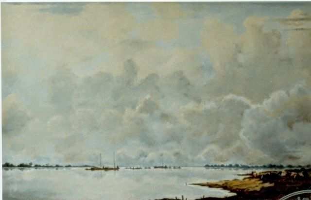 Jan Voerman sr. | View of the river  IJssel, Öl auf Tafel, 33,5 x 51,0 cm, signed l.r.