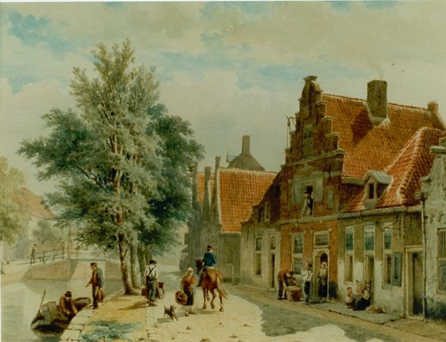 Springer C.  | A view of the Burgwal, Haarlem, Aquarell auf Papier 30,5 x 40,5 cm, signed l.r. und dated 1843