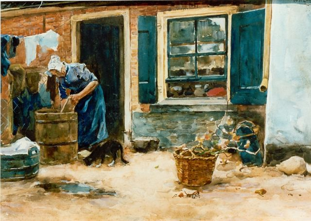 Willem de Zwart | Laundress, Aquarell auf Papier, 36,0 x 52,0 cm