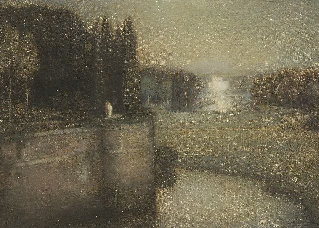 Jan Bogaerts | The city wall of 's-Hertogenbosch, Öl auf Leinwand, 50,2 x 70,3 cm, signed l.l. und dated 1925