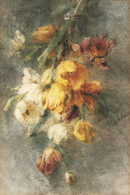 Margaretha Roosenboom | A bouquet of tulips, Aquarell und Gouache auf Papier, 74,0 x 49,8 cm, signed r.c. und to be dated 1893-1896