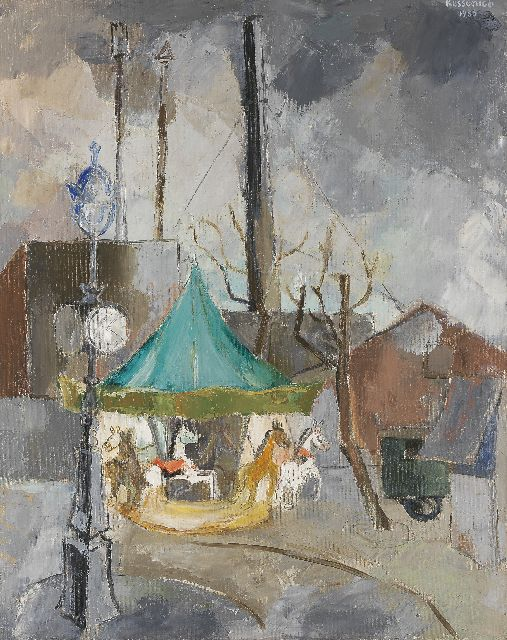 Michiels van Kessenich J.C.P.  | A merry-go-round in Paris, Öl auf Leinwand 81,5 x 65,5 cm, signed u.r. und dated 1935