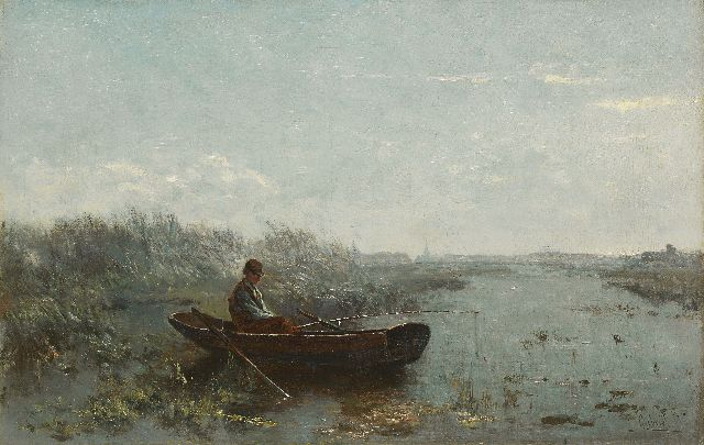 Paul Joseph Constantin Gabriel | Fisherman in the early morning, Öl auf Leinwand, 30,2 x 47,0 cm, signed l.r.