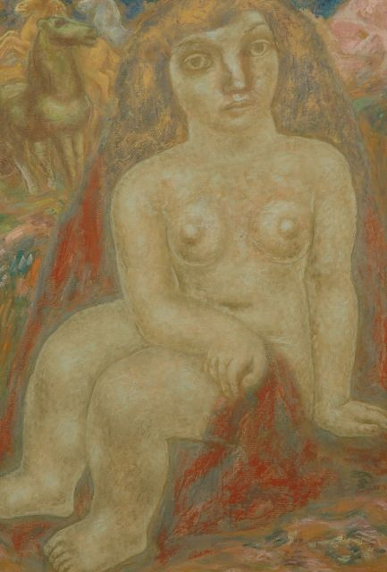 Leo Gestel | Seated nude with horses, Pastell auf Papier, 100,7 x 69,2 cm, signed l.r. und painted 1932