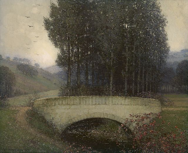 Jan Bogaerts | Bridge in the Geuldal, Öl auf Leinwand, 38,1 x 46,0 cm, signed l.l. und dated 1912