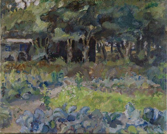 Jan Altink | A kitchen garden with a shed, Öl auf Leinwand, 41,5 x 52,4 cm, signed l.r.