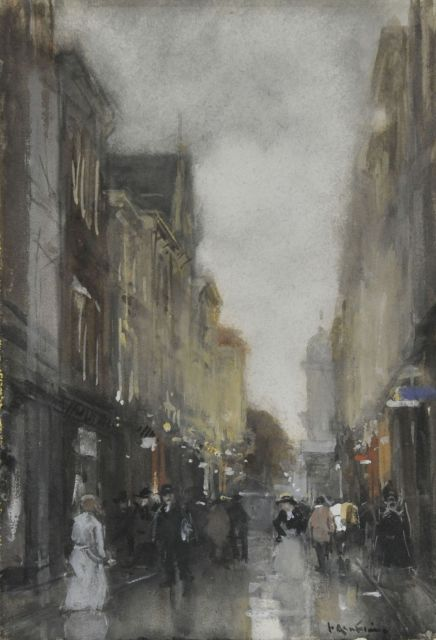 Floris Arntzenius | The Spuistraat, Aquarell auf Papier, 25,8 x 17,9 cm, signed l.r.