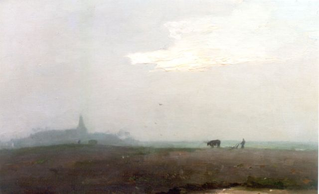 Knikker A.  | Ploughing the fields, Öl auf Leinwand, 40,2 x 60,5 cm, signed l.r.