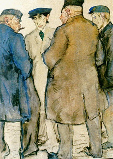 Leo Gestel | The cattle market, Gemischte Technik auf Papier, 32,0 x 24,0 cm, signed l.r. und dated '09