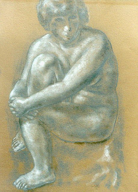 Leo Gestel | A seated nude, Pastell auf Papier, 61,5 x 46,5 cm, signed l.r. und dated '31