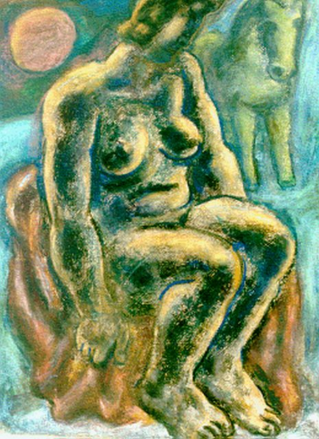 Leo Gestel | A seated nude, Pastell auf Papier, 63,0 x 48,0 cm, signed l.l. und dated '32