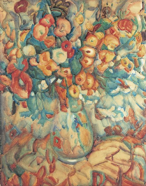 Leo Gestel | A flower still life, Aquarell auf Papier, 99,0 x 77,8 cm, signed u.l. und dated 1917