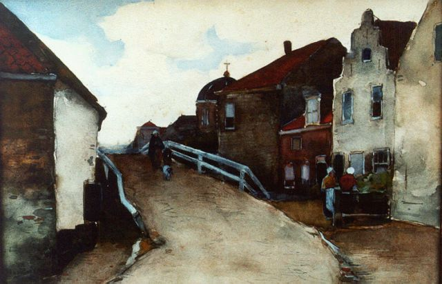 Willem de Zwart | A village in summer, Aquarell auf Papier, 25,5 x 36,5 cm, signed l.l.