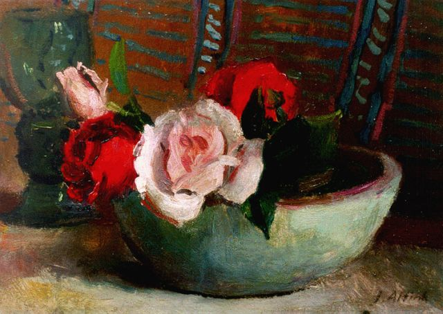 Jan Altink | A still life with roses, 23,8 x 33,8 cm, signed l.r.