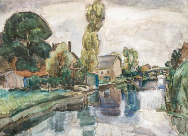 Leo Gestel | A view of Koedijk, Aquarell auf Papier, 72,0 x 98,0 cm, signed l.r. und dated 1919