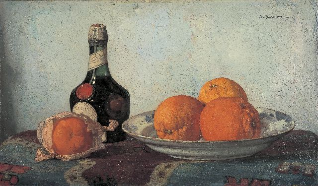 Jan Bogaerts | A still life with oranges, Öl auf Leinwand, 32,4 x 55,2 cm, signed u.r. und dated 1922