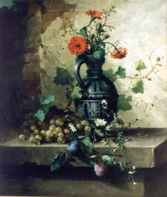 Margaretha Roosenboom | A still life with flowers, Öl auf Leinwand, 64,5 x 55,5 cm, signed l.l.