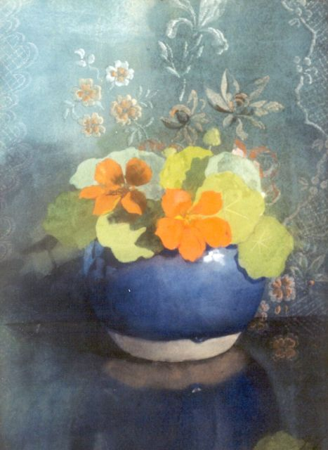 Jan Voerman sr. | Nasturtium, Aquarell auf Papier, 37,0 x 27,0 cm, signed with initials l.r. und painted between 1889-1904