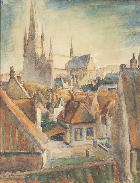 Leo Gestel | A view of Woerden, Aquarell auf Papier, 65,5 x 50,0 cm, signed l.l. und dated 'Woerden 1917'