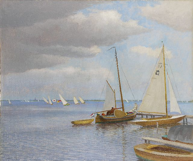 Dirk Smorenberg | Sailing boats on the Loosdrechtse Plassen, Öl auf Leinwand, 73,0 x 87,2 cm, signed l.l.