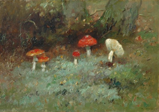 Knikker A.  | A still life of the forest ground, Öl auf Leinwand, 35,2 x 50,3 cm, signed l.r.
