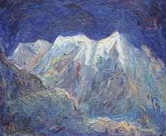 Vis D. - Berglandschaft, Öl auf Leinen 50,1 x 60,2 cm, signiert r.o. und im Verso
