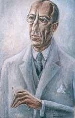 Lubbers A. - Porträt von Piet Mondriaan, Öl auf Leinen 81,3 x 54,7 cm, signiert r.u.und datiert 1931
