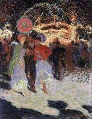 Sluijters J.C.B. - Kermesse à la Porte Maillot, Parijs, Öl auf Leinen 35 x 27,3 cm, signiert u.r.und datiert 1906