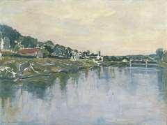 Mondriaan P.C. - Fluss seine, Öl auf Leinen 54,2 x 73,1 cm, signiert u.l.und datiert 1929