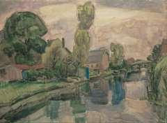 Gestel L. - Ausicht auf Koedijk, Aquarell auf Papier 72 x 98 cm, signiert u.r.und datiert 'Koedijk 1919'
