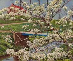 Bieling H.F. - Blütenbaum, Öl auf Leinen 38 x 45,4 cm, signiert l.u.