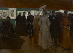 Arntzenius P.F.N.J. - Ausstellung in Pulchri, Haag, Öl auf Leinen auf Holzferplatte 45,2 x 59,8 cm, zu datieren um 1895