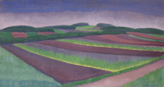 Louber L.M. - Roggenfelder, Blaricum, Öl auf Leinen 38,4 x 73,2 cm, r.u.und datiert '21