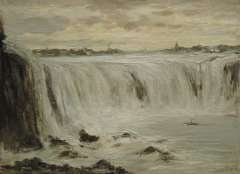 Apol L.F.H. - Die Niagara Wasserfälle, Öl auf Leinen 30,3 x 40,5 cm, signiert r.u.