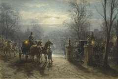 Eerelman O. - Zum Fest, Aquarell auf Papier 36,9 x 54,4 cm, signiert l.u.