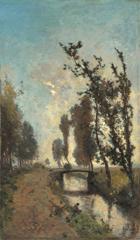 Gabriel P.J.C. - Morgennebel, Öl auf Leinen 60,5 x 35,9 cm, signiert u.r.