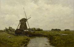 Gabriel P.J.C. - Windmühle bei Leidschendam, Öl auf Leinen 39,4 x 60 cm, signiert u.l.